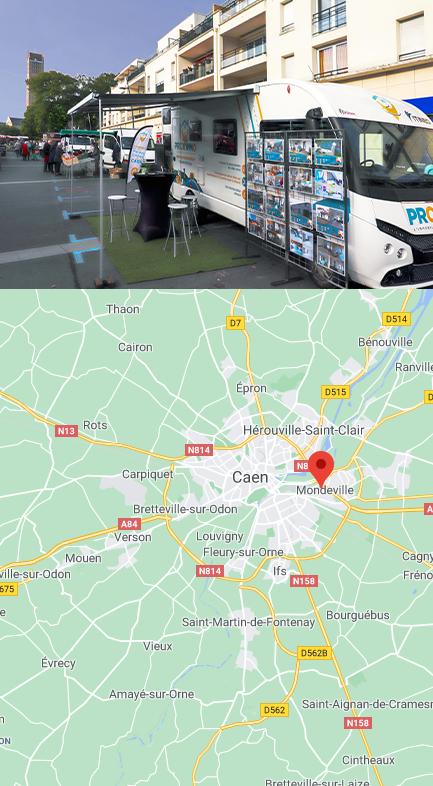 Mondeville - Marché rue Chapron